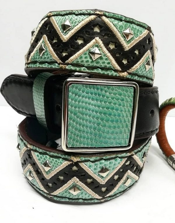 Cinturon En Piel De Iguana